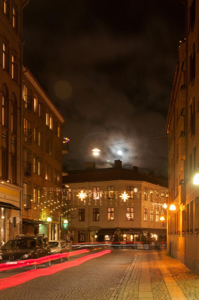 Vinterkväll i Haga.