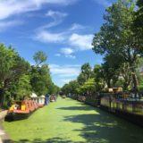 Regent's Canal med de typisk husbåtarna.